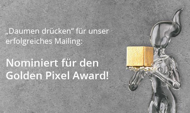 Nominiert für den Golden Pixel Award